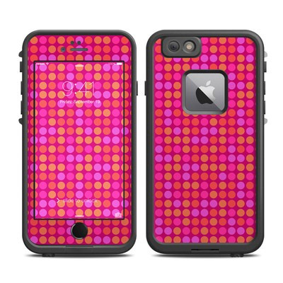 Lifeproof iPhone 6 Plus Fre Case Skin - Dots Pink