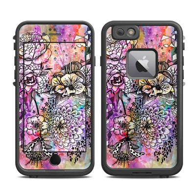 Lifeproof iPhone 6 Plus Fre Case Skin - Hot House Flowers