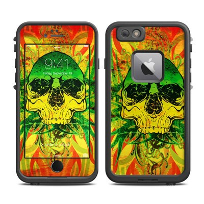 Lifeproof iPhone 6 Plus Fre Case Skin - Hot Tribal Skull