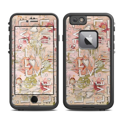 Lifeproof iPhone 6 Plus Fre Case Skin - Love Floral