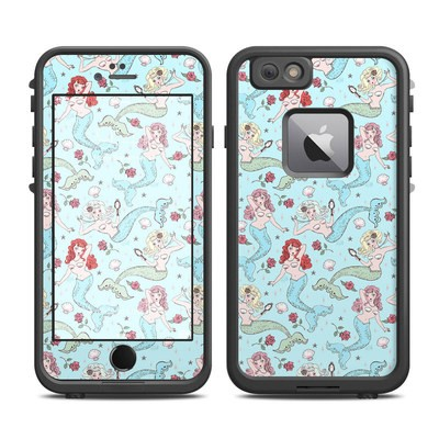Lifeproof iPhone 6 Plus Fre Case Skin - Mermaids and Roses