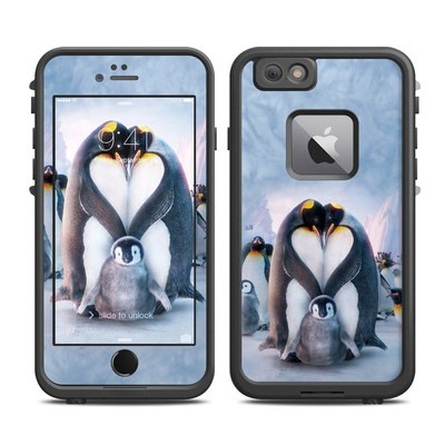 Lifeproof iPhone 6 Plus Fre Case Skin - Penguin Heart
