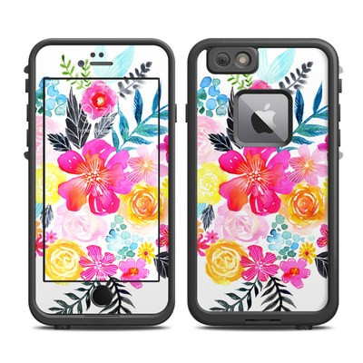 Lifeproof iPhone 6 Plus Fre Case Skin - Pink Bouquet