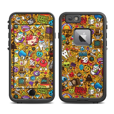 Lifeproof iPhone 6 Plus Fre Case Skin - Psychedelic