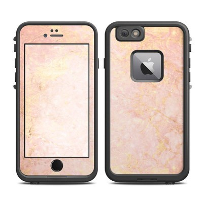 Lifeproof iPhone 6 Plus Fre Case Skin - Rose Gold Marble