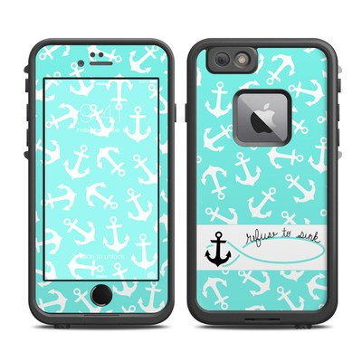 Lifeproof iPhone 6 Plus Fre Case Skin - Refuse to Sink