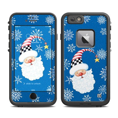 Lifeproof iPhone 6 Plus Fre Case Skin - Santa Snowflake