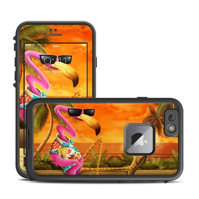 Lifeproof iPhone 6 Plus Fre Case Skin - Sunset Flamingo