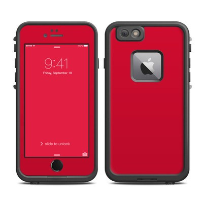 Lifeproof iPhone 6 Plus Fre Case Skin - Solid State Red