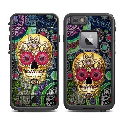 Lifeproof iPhone 6 Plus Fre Case Skin - Sugar Skull Paisley