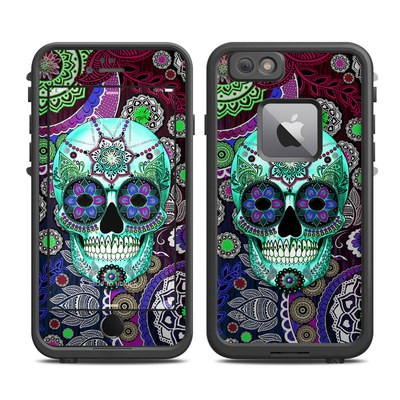 Lifeproof iPhone 6 Plus Fre Case Skin - Sugar Skull Sombrero
