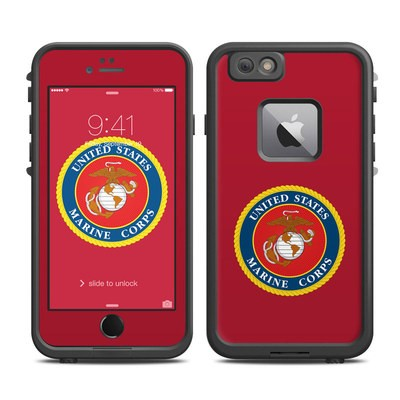 Lifeproof iPhone 6 Plus Fre Case Skin - USMC Red