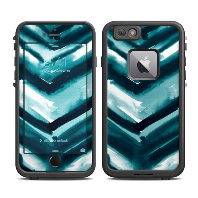 Lifeproof iPhone 6 Plus Fre Case Skin - Watercolor Chevron