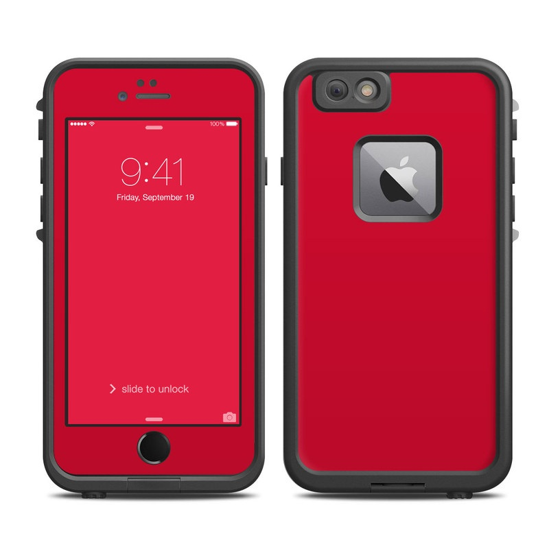 huge discount dc4c4 d0fcb Lifeproof iPhone 6 Plus Fre Case Skin - Solid State Red