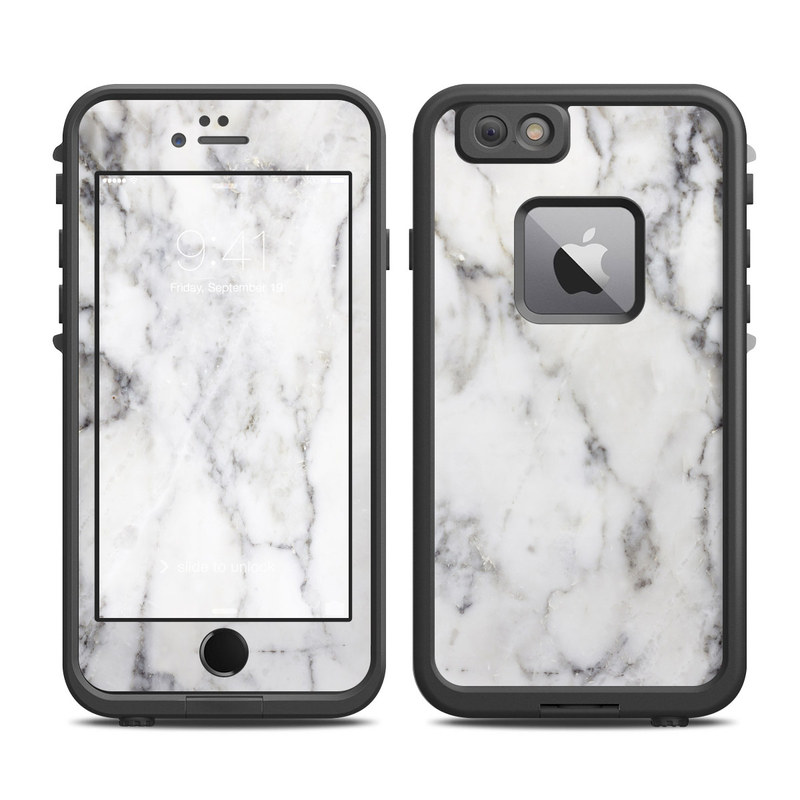 Lifeproof Iphone 6 Plus Fre Case Skin White Marble By