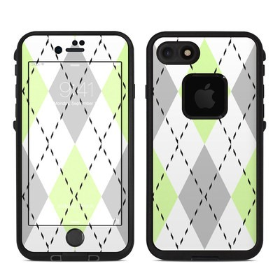 Lifeproof iPhone 7 Fre Case Skin - Mint Argyle