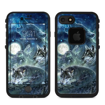 Lifeproof iPhone 7 Fre Case Skin - Bark At The Moon