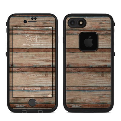 Lifeproof iPhone 7 Fre Case Skin - Boardwalk Wood