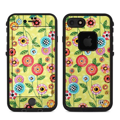 Lifeproof iPhone 7 Fre Case Skin - Button Flowers