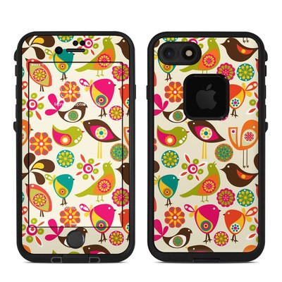Lifeproof iPhone 7 Fre Case Skin - Bird Flowers