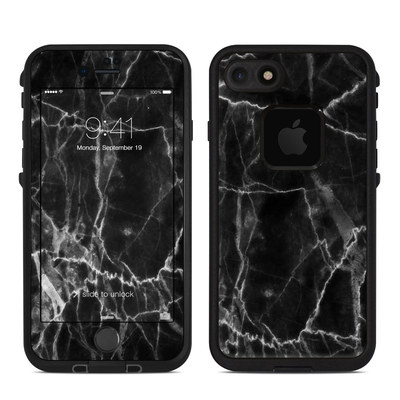 Lifeproof iPhone 7 Fre Case Skin - Black Marble