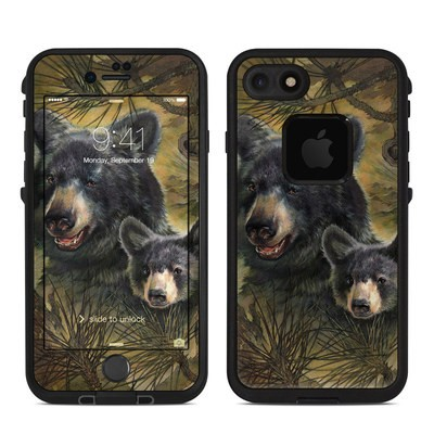 Lifeproof iPhone 7 Fre Case Skin - Black Bears
