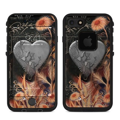 Lifeproof iPhone 7 Fre Case Skin - Black Lace Flower