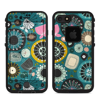 Lifeproof iPhone 7 Fre Case Skin - Blooms Teal