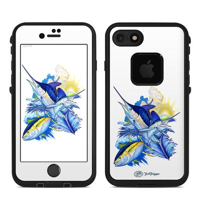 Lifeproof iPhone 7 Fre Case Skin - Blue White and Yellow
