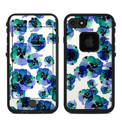 Lifeproof iPhone 7 Fre Case Skin - Blue Eye Flowers