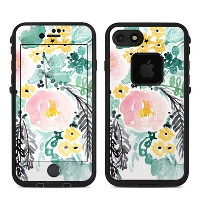 Lifeproof iPhone 7-8 Fre Case Skin - Blushed Flowers