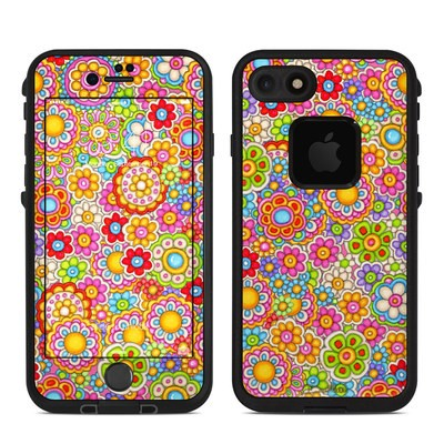 Lifeproof iPhone 7 Fre Case Skin - Bright Ditzy
