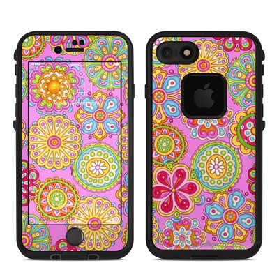 Lifeproof iPhone 7 Fre Case Skin - Bright Flowers