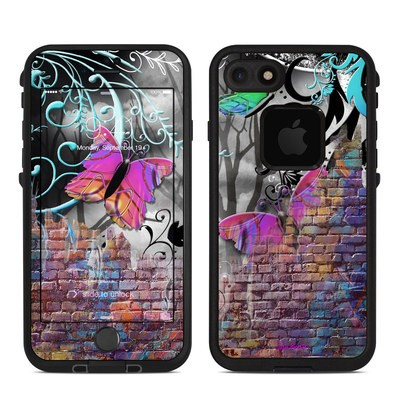Lifeproof iPhone 7 Fre Case Skin - Butterfly Wall