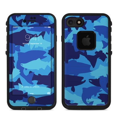 Lifeproof iPhone 7 Fre Case Skin - Camo Fish