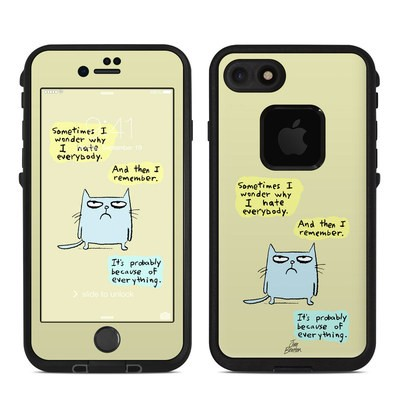 Lifeproof iPhone 7 Fre Case Skin - Catwad Hate
