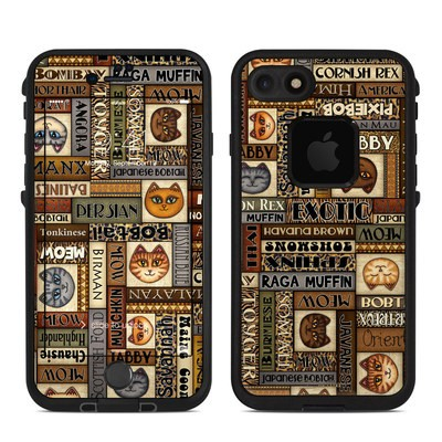 Lifeproof iPhone 7 Fre Case Skin - Cat Breeds