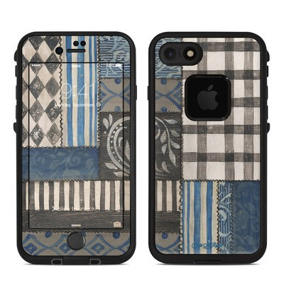 Lifeproof iPhone 7 Fre Case Skin - Country Chic Blue