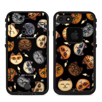 Lifeproof iPhone 7 Fre Case Skin - Cat Faces