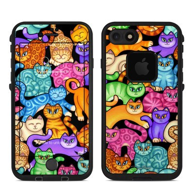 Lifeproof iPhone 7 Fre Case Skin - Colorful Kittens