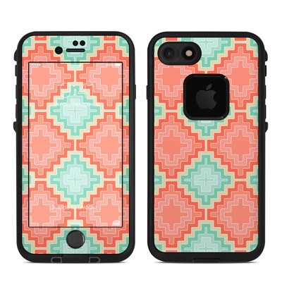Lifeproof iPhone 7 Fre Case Skin - Coral Diamond