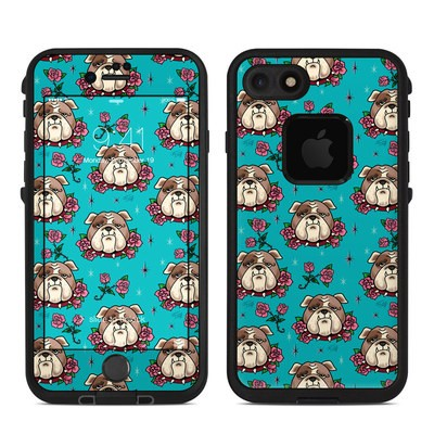 Lifeproof iPhone 7-8 Fre Case Skin - Bulldogs and Roses
