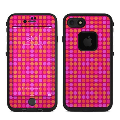 Lifeproof iPhone 7 Fre Case Skin - Dots Pink