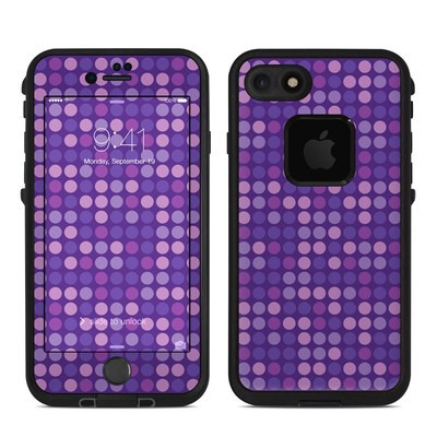 Lifeproof iPhone 7 Fre Case Skin - Dots Purple