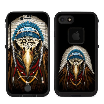 Lifeproof iPhone 7 Fre Case Skin - Eagle Skull