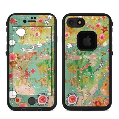 Lifeproof iPhone 7 Fre Case Skin - Feathers Flowers Showers