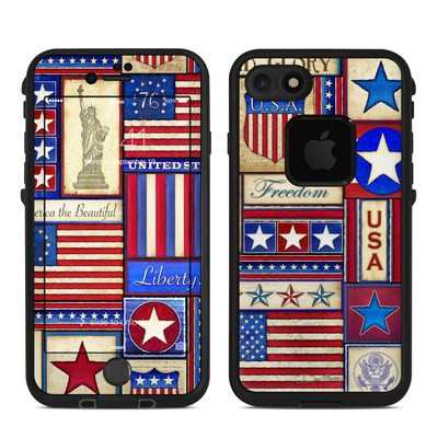 Lifeproof iPhone 7 Fre Case Skin - Flag Patchwork