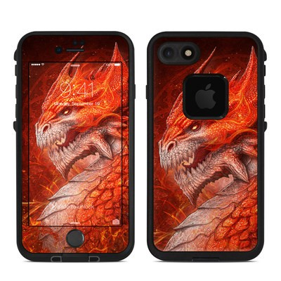 Lifeproof iPhone 7 Fre Case Skin - Flame Dragon