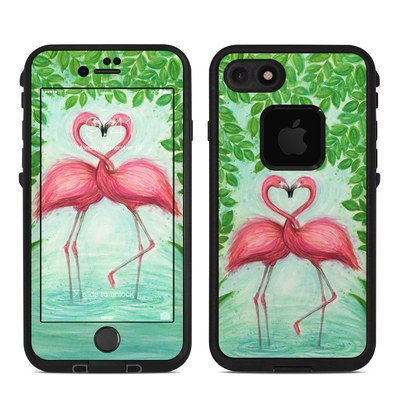 Lifeproof iPhone 7-8 Fre Case Skin - Flamingo Love