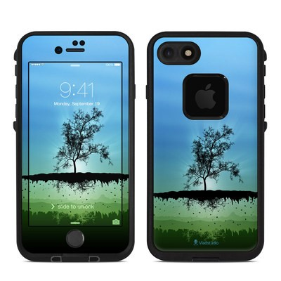 Lifeproof iPhone 7 Fre Case Skin - Flying Tree Blue